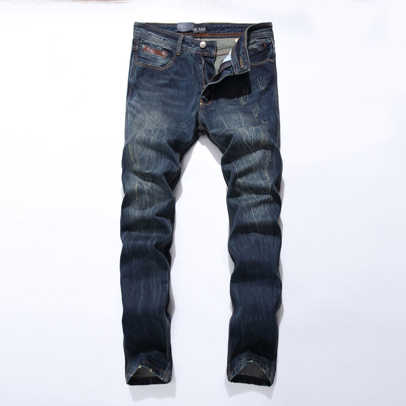 New Arrival Fashion Mens Jeans Straight Fit Leisure Quality Cotton Biker Jeans Denim Trousers CN Brand Ripped Jeans Pants 5001