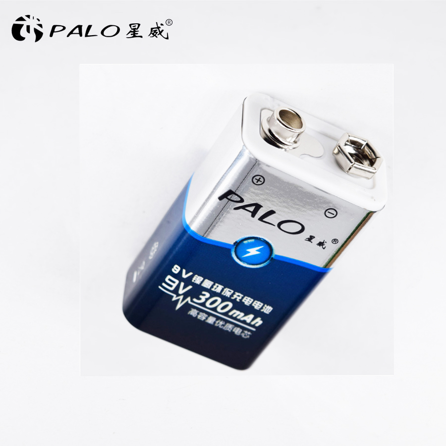 1pcs Factory direct sale power battery 6F22 006p 9V Nimh 300mah rechargeable battery for instruments