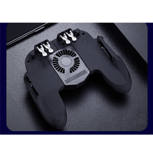 Image 5 - PUBG Mobile Controller Gamepad With Cooler Cooling Fan For iOS Android For Samsung Galaxy 6 Fingers Operation Joystick Cooler