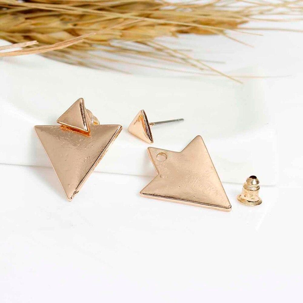 Women's Triangle Double-Sided Earrings Earrings Jewelry Women Jewelry