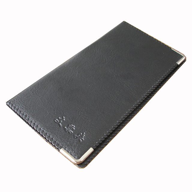 Ever Perfect 20 Cell Leather Cover Business Check Book Cheque Holder Folder Black 1138