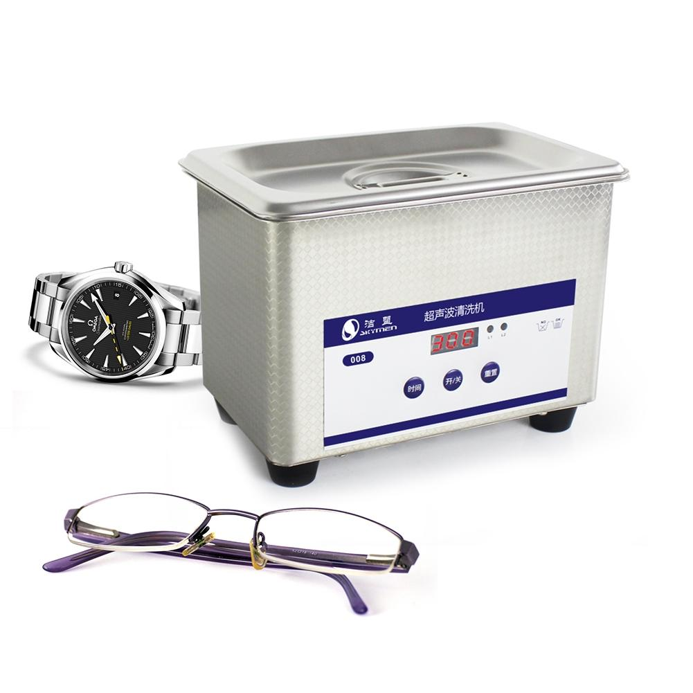 Adoolla 800ML Exquisite Stainless Steel Digital Ultrasonic Cleaner Components Jewelry Watches Dental Glasses Cleaner Bath