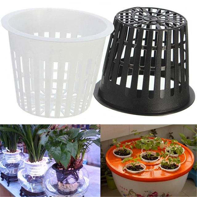 10 Pcs 3inch Heavy Duty Mesh Pot Net Cup Vegetable Grow Basket Flower Plant Hydroponic Aeroponic Planting Grow SYT9024