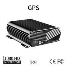 Gps 8ch 1080 ahd жесткий диск автомобильный мобильный видеорегистратор