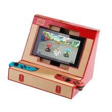 Faltbare Stand für Nintend Schalter NS Konsole Freude Controller Game Pad Joystick DIY Labo Karton Papier Arcade Halterung Simulator