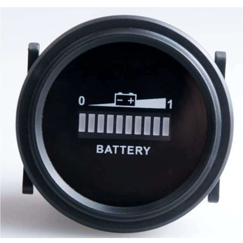 Indicador de batería Redondo LED 12v 24v 36v 48v 72v RV Utilizado para carretillas elevadoras Carrito de golf scooter coche vehículo barco RL-BI002