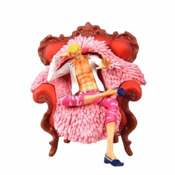 23cm Japanese anwime figure one piece Donquixote Doflamingo sofa ver action figure collectible model toys for boys