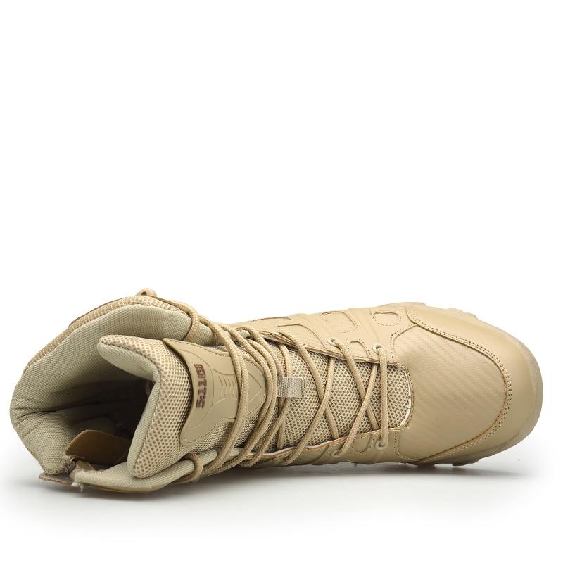 Bege Hard Táticas wearing Outono Masculino Botas preto Homens Mens Qualidade Alta Segurança De Sapatos Inverno Heinrich Dos Couro Militares 6TB4nyyZ