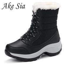 Botas de invierno para Mujer, Botas de nieve para Mujer, Botas con plataforma para invierno, Botas cálidas para Mujer, 2019 blancas botines