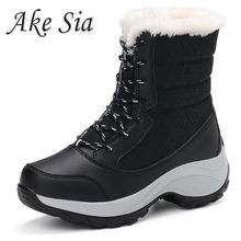 Women Boots Winter Shoes Women Snow Boots Women Plus Size Hot Platform Boots Winter Female Warm Botas Mujer 2019 White Booties(China)
