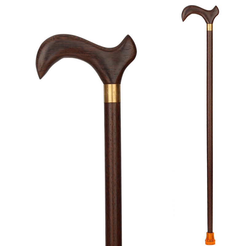 chicken wing wood products for the aged western style solid wood stick hand crutches old stick fighting lettering