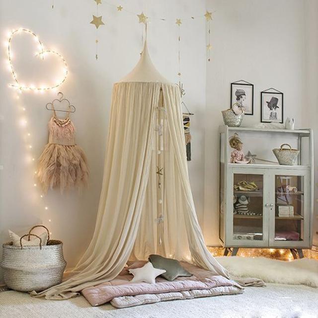 Spielhaus Zelte Für Kinder Mädchen Krippe Netting Babys Palace Kinderzimmer  Baldachin Bett Vorhang Runde Hing Dome
