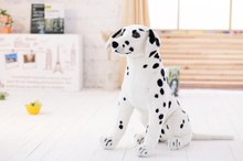 lovely simulaiton spots dog toy big plush sitting spot dog doll gift about 60cm