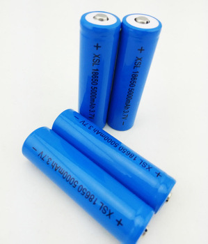 18650 3.7V 5000mA Rechargeable lithium battery Light Flashlight batteries LED light battery+Pointed capacity of 2200mah