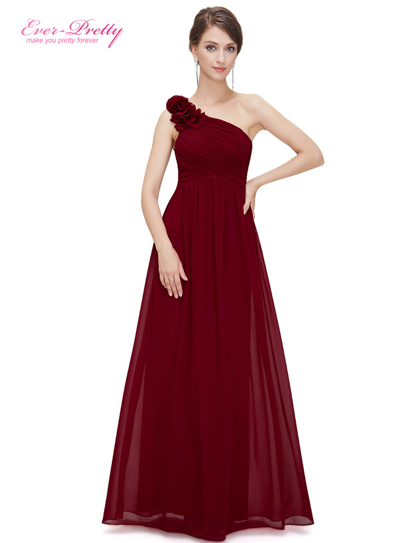 Evening Dresses Ever Pretty EP08237 One Shoulder Floral Padded Holiday Celebrity Prom Fa ...