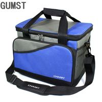 19L Cooler Bag Waterproof Picnic Shoulder Bags For Food Drink Fruit Insulation Thermal Bag Ice Pack ThermaBag refrigerator