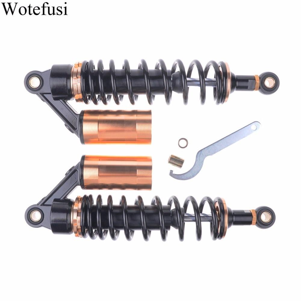 """""""Wotefusi для 320мм 12.5""""""""мотоцикл амортизаторы 7мм Весенний раунд заканчивается 2шт черный [PA171]"""""""