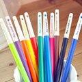 Сияющий цвет алмаза конфеты различных 12 цветов 0.38 мм супер-тонкие гель-ручка акварель пера подарок для детей 12 шт./компл. fs7896