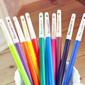Shining Diamond Candy Color Different 12 Colors 0.38mm Super Thin Gel Pen Watercolor Pen Creative Gift For Kids 12pcs/set fs7896