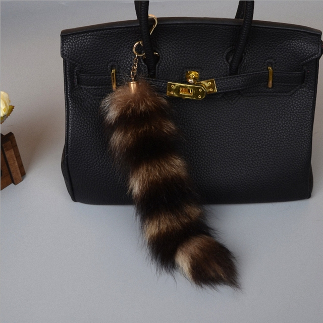 81060b0a4006 Large plus size Luxury Genuine Raccoon Fox Tail Keychain Fur Tassel Bag Tag  Car Bag Charm Woman Accessory Keyring Fo-K053-A