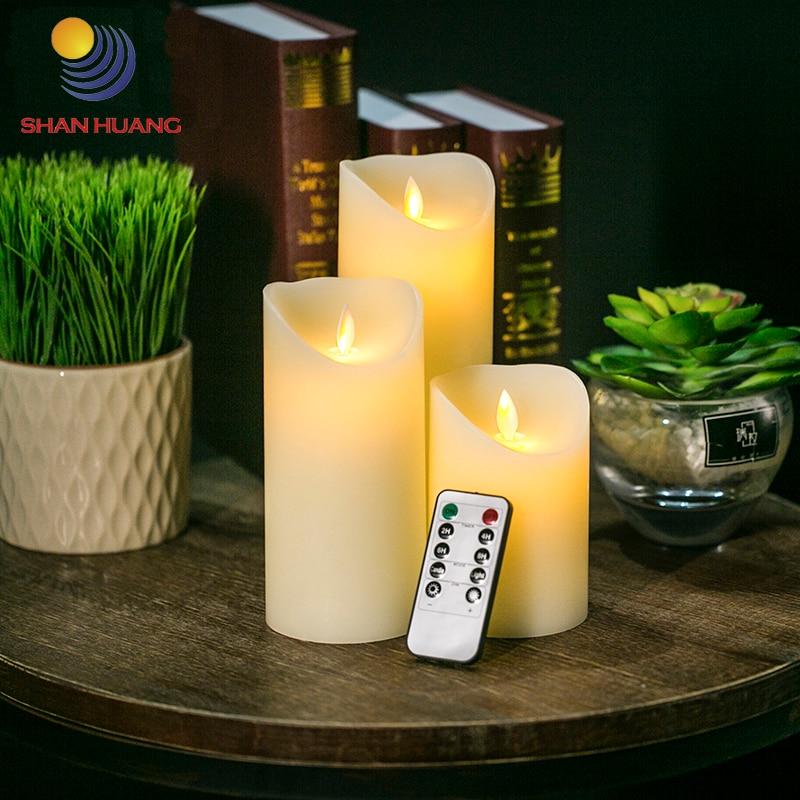 <font><b>LED</b></font> candle remote control <font><b>electronic</b></font> candles <font><b>led</b></font> Flame moving Candle Furniture decoration candle
