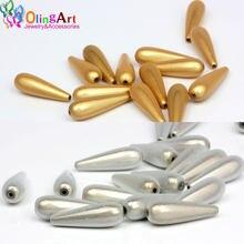 OlingArt 30mm 12 pçs/lote Ouro Cor Prata 3D Ilusão Milagre Acrílico Spacer Bead Bubblegum Fantasia Pulseira DIY Fazer Jóias
