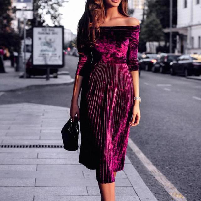 Vintage Velvet Dress Ladies