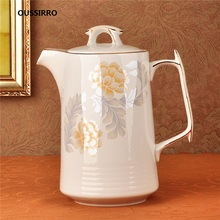 OUSSIRRO Jingdezhen Ceramic Pitchers Water Bottles Cold Kettle No Explosion Jug Large Capacity Household Teapot