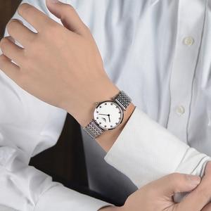 Image 5 - GUANQIN Fashion Couple Watch Set Diamond Luxury Quartz Watch Mens Women Wristwatch lovers Watch Clock Man relogio masculino