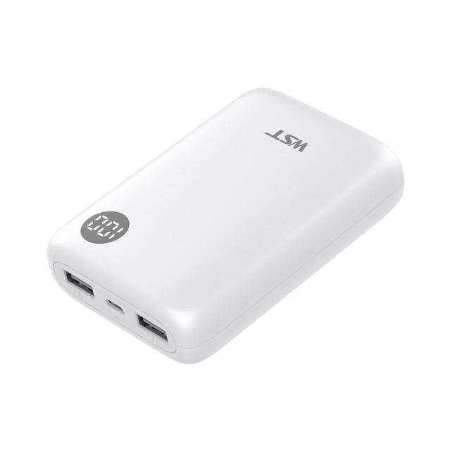 WST 10000mAh Portable Power Bank Dual Output with LCD Digital Display,External Battery Phone Charger for iPhone, Samsung