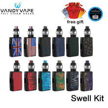 Original Vandy Vape Swell Kit 188W Box Mod with Swell Tank  adopts 0.15ohm single meshed coil E Cigarette waterproof PCBA Vape