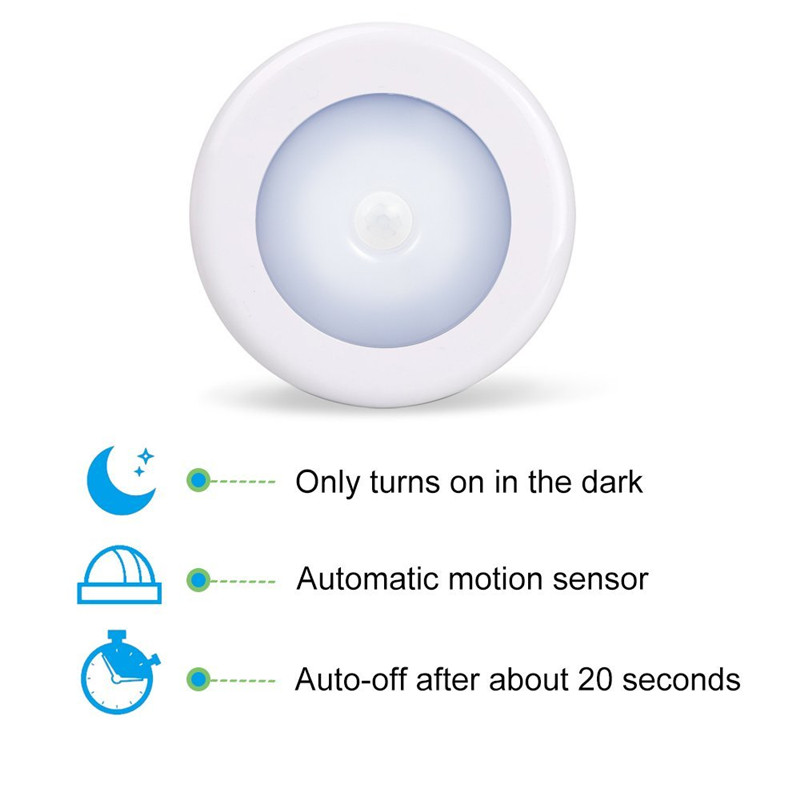 AKDSteel Magnetic Infrared IR Bright Motion Sensor Activated LED Wall Lights Night Light AutoOn/Off Battery Operated Hallway