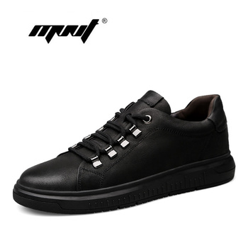Fashion men shoes two style height increasing casual shoes genuine leather shoes men lace up flats mocasines hombre Обувь