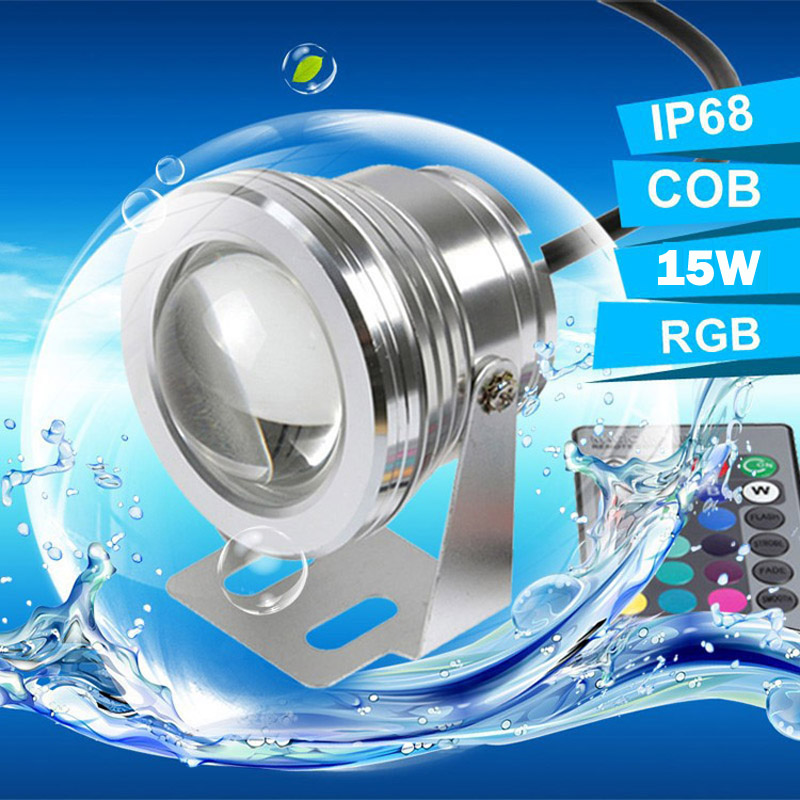 10w LED Swimming Pool Light Underwater Waterproof IP65 Landscape Lamp Rgb AC/DC 12V 900LM
