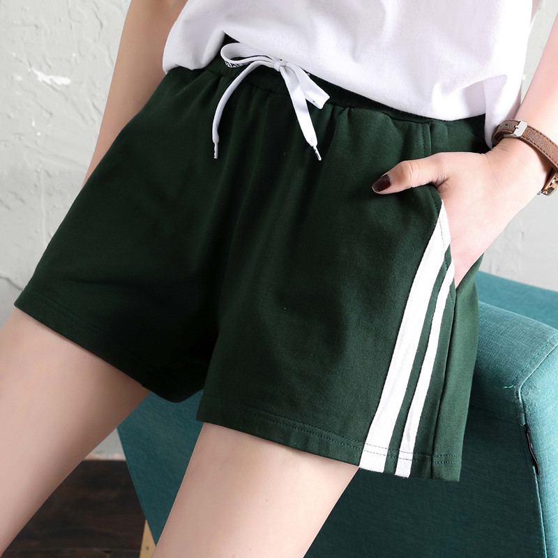 Spring Summer New Arrival Women Leisure   Shorts   Out Street Casual Loose Waist Cotton   Shorts   Girl School Casual   Shorts   Oversize