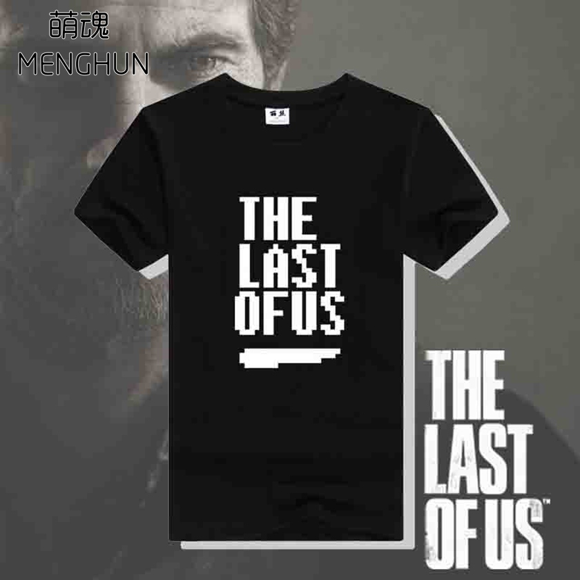Hot game the last of us 8 bit style retro words printing game fans cotton tee shirts unisex ac541 image