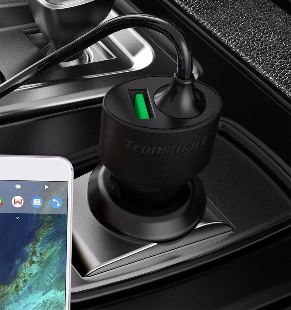 Tronsmart CCTA Car-Charger Quick Charge 3.0 USB Type C Car Charger for Xiaomi Mi5 for LG G5 for Elephone S7 [Qualcomm Certified] (1)