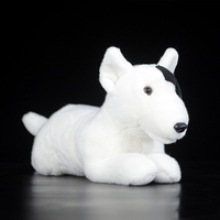 30CM simulation Bull Terrier toys & hobbies Stuffed Animal Soft. children girls dolls& stuffed toys stuffed plush animal toy