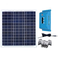 Kit Panneau Solaire 12 v 40w Solar Mobile Charger Solar Charge Controller 12v/24v 10A Auto Solar Battery Fan Car Phone