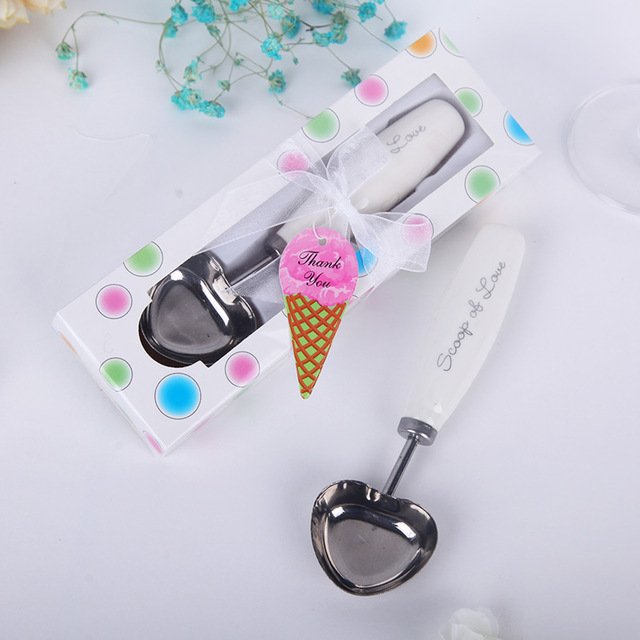 scoop of love ice cream spoon wedding party favor bridal shower guest gift presents souvenirs