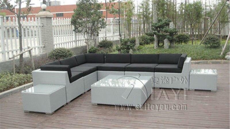 9 pcs patio outdoor rattan sofa uv resistant contemporary corner sofachina