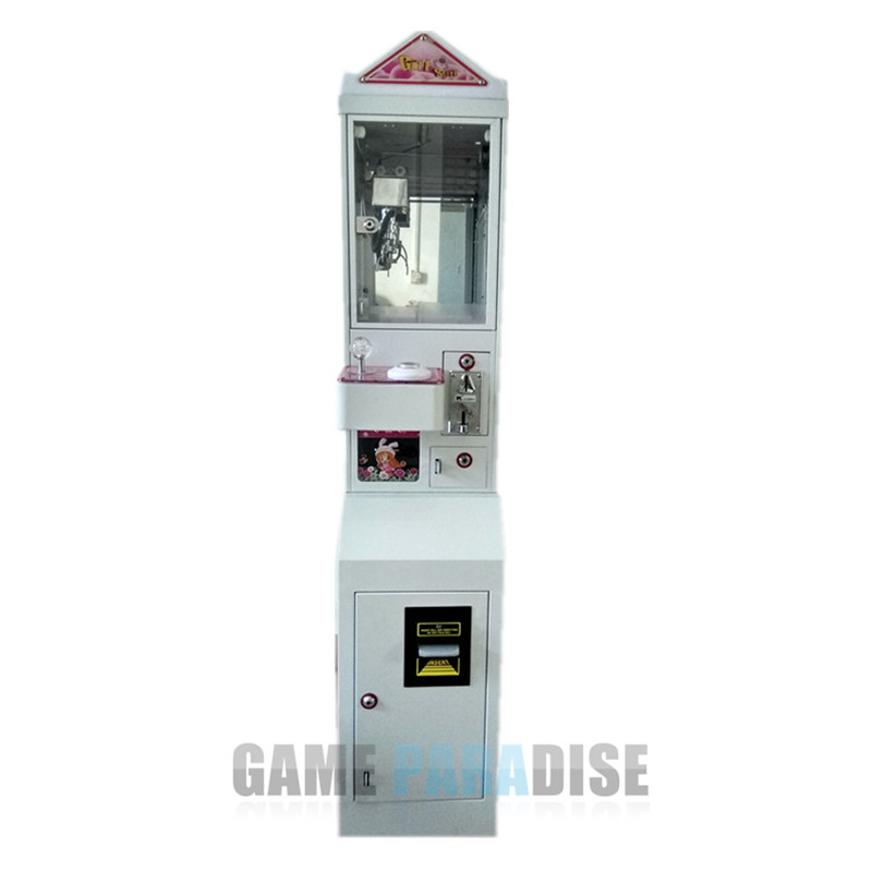 Metal Case freestanding Mini Claw Crane Machine with bill acceptor and base can be separated small condoms vending machine with coins acceptor with 5 choices