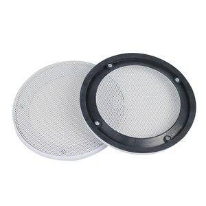 Image 3 - GHXAMP 2 قطعة 4 بوصة 5 بوصة 8 بوصة سيارة سقف شبكة سماعات شبكة الضميمة صافي 6.5 بوصة الغطاء الواقي مضخم الصوت لتقوم بها بنفسك ABS الأبيض