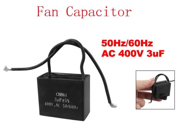 AC 400V 3uF 50Hz/60Hz Fan Motor Start Run Capacitor CBB61 6pcs