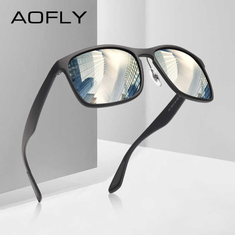 bb80e94e4db7 AOFLY BRAND DESIGN Polarized Sunglasses Men Driving Sunglasses Coating Fishing  Driving Eyewear Male Goggles UV400 Oculos