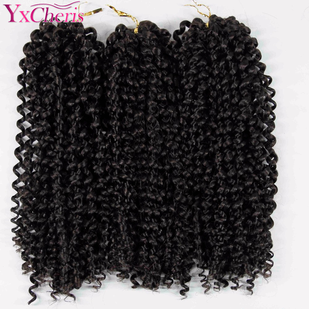 12'' Brazilian Jerry Curl Bundles Weave Synthetic Braiding Hair With Ombre Crochet Braids Hair Extension Bulk Hair Kanekalon