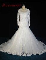2017 Luxury Long Sleeve Wedding Hot Sale Bridal Dress Custom Made Factory Supplier