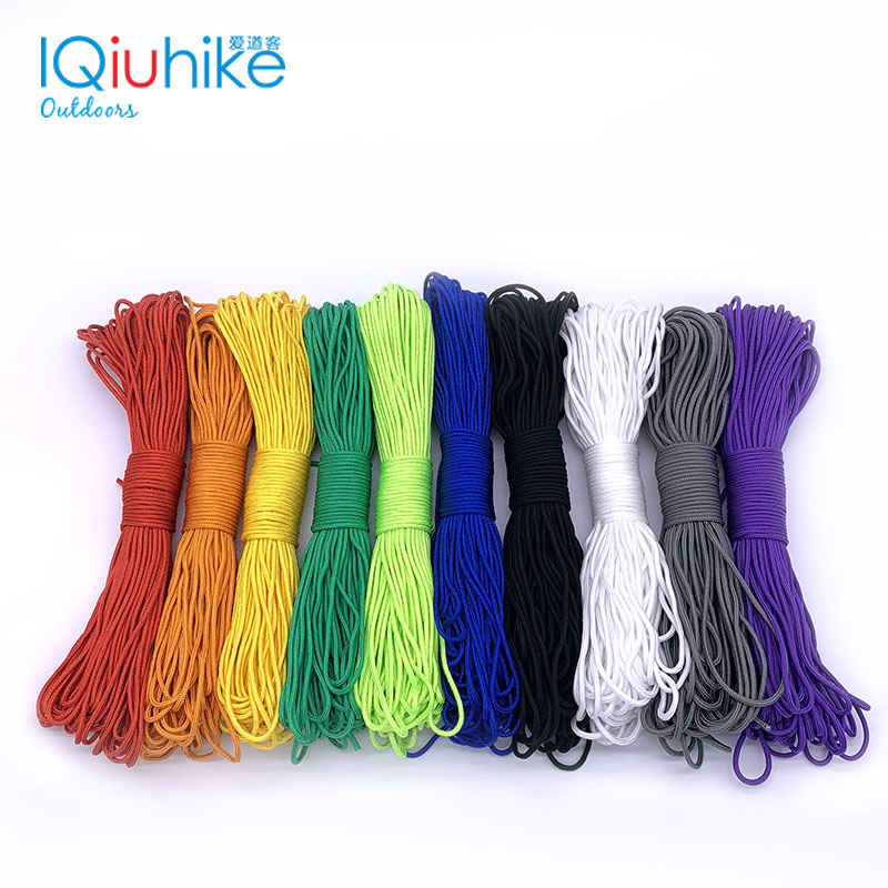 50FT (15 Meters) Dia. 2mm One Stand Cores Paracord For Survival Parachute Cord Lanyard Camping Climbing Camping Rope Hiking
