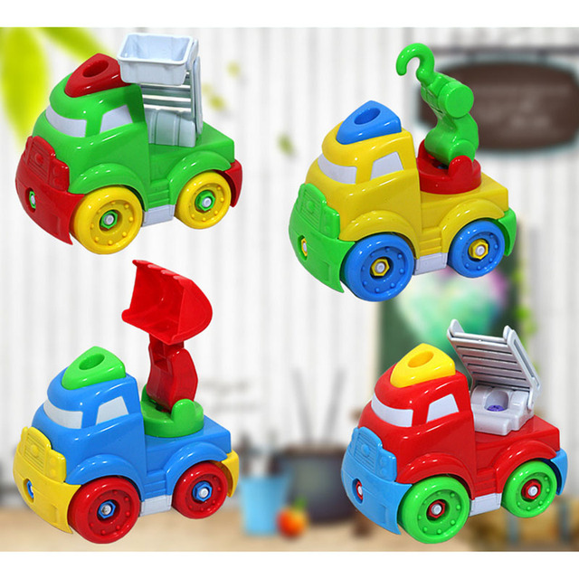 baby boy engineering car models toys kids babies disassembly assembly classic car toy farm tractor wheels