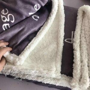 Image 4 - Parijs Toren Gooi Deken Op De Bed Romantische Brieven Sherpa Fleece Deken Hart Pluche Bank Plaid 1Pc